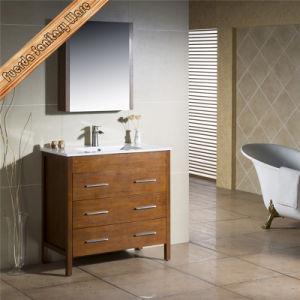 Floor Standing Wooden Bathroom Vanity Cabinet pictures & photos