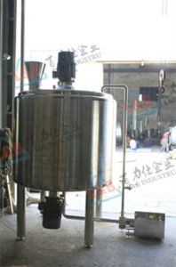 Stainless Steel Powder Liquid Mixing Tank with Powder Hopper pictures & photos