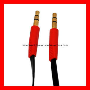 3.5mm Stereo Audio Flat Aux Cable pictures & photos