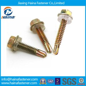 DIN7504k Hex Flange Head Color Zinc Plated Self Drilling Screw pictures & photos