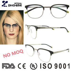 Hot Sale Ladies Top Italian Eyeglasses Frame Round Aluminum Optik Frame for Girls pictures & photos