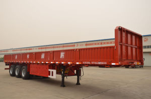 3axles Flatbed Side Wall Semi-Trailer