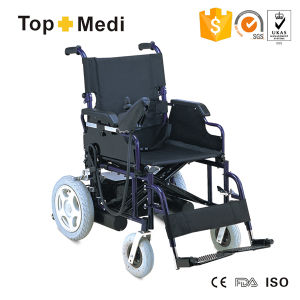 Topmedi Disabled Steel Power Wheelchair with Safety Belt pictures & photos