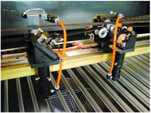 Double 80W CO2 Laser Tube Double Heads Laser Machine pictures & photos
