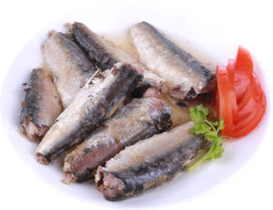 Top Quality 125g Canned Sardine in Brine in Plate Can pictures & photos