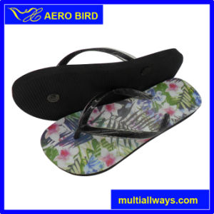 Trendy Lovely Flower Print PE Sandal for Women pictures & photos