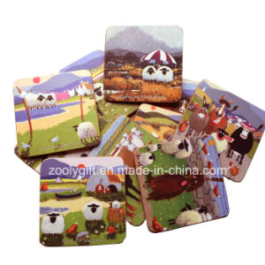10 X 10 Square Custom Printing Cork Coasters pictures & photos