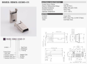 Mini USB Connector on-The-Go (OTG) Mini-B Male SMT pictures & photos