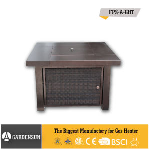 41, 000BTU Square Wicker Garden Gas Outdoor Patio Firepit with CE CSA Aga