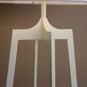 High Quality Quadrupod White Iron Standing Floor Lamp pictures & photos