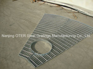 Hot Dipped Galvanized Fan Shaped Steel Grating pictures & photos