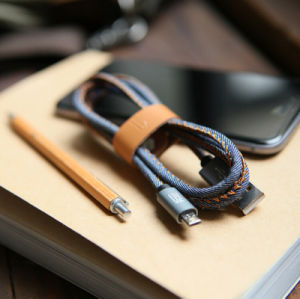 Denim USB Charging Data Cable for iPhone 6 6s pictures & photos