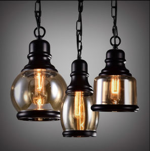 Fashion Antique Cognac Glass Hanging Pendant Lamp Lighting for Dining Room pictures & photos