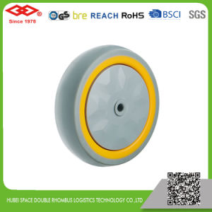 100mm Ball Bearing TPR Cart Wheel (L150-34E100X30F) pictures & photos