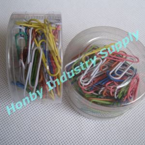 Colored Plastic-Coated Metal Paper Clips pictures & photos