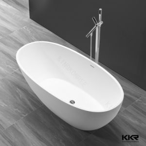 Kkr Oval Bath Acrylic Solid Surface Bathtub for Hotel Project pictures & photos