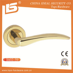 Brass Rosette Lock Door Handle-Ba0259 pictures & photos