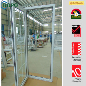 Tilt and Turn Door, UPVC Door with Iron Grills pictures & photos