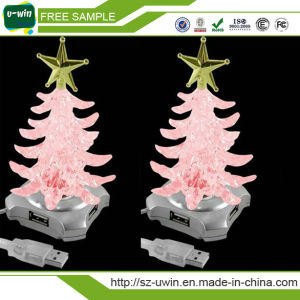 Free Sample Christmas LED Light USB Hub 2.0 Hub pictures & photos