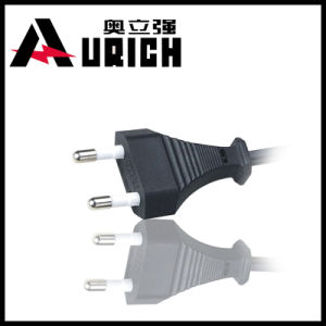 Hot Selling 2 Pin Male Female AC Power Cord Plug Korea Electrical Plugs pictures & photos