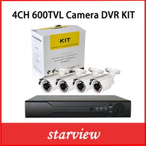 Cheap 4 Channel CCTV Security Camera DVR Systems Waterproof DVR Kit pictures & photos