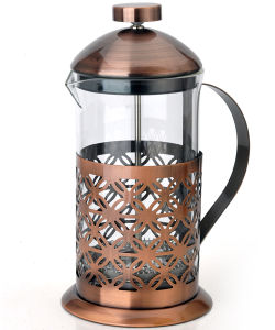 Good Quality Pyrex Copper French Press Coffee Maker Metal Rack French Press