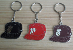 Personalized Metal Keychain Cap Shape Keychain pictures & photos