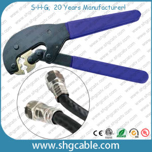 Rg59 RG6 Coaxial Cable F Connector Hex Crimp Tool (NT-106X) pictures & photos