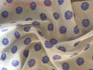 Silk Cotton Poly Jacquardfabric pictures & photos