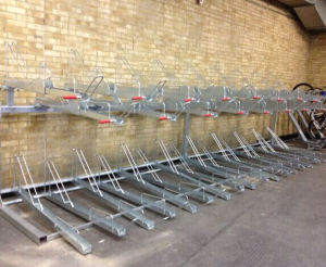 Two Tier Double Decker Cycle Parking Rack pictures & photos