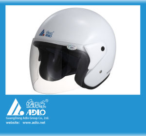 Adlo White Open Face Motorcycle Helmet (05)