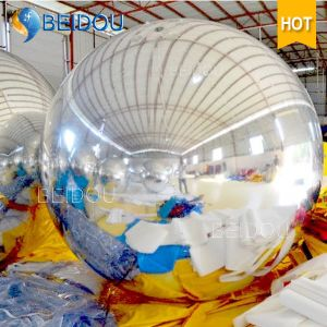 Decorative Mirror Balloons Gold Red Silver Disco Inflatable Mirror Ball