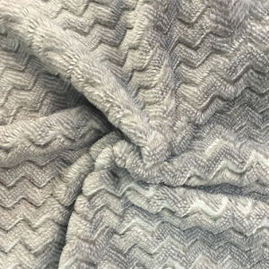 100% Polyester Cation 8 Jacquard Flannel Fleece pictures & photos