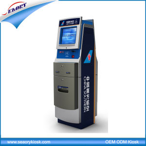 Customized Airport Standing Self-Service Ticket Printing Kiosk pictures & photos