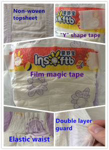 Economy Magic Tape Breathable Cloth-Like Baby Diapers