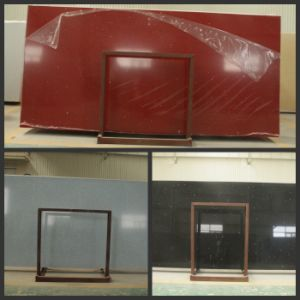 Red/Black/White Artificial Quartz Slab for Countertop/Tile pictures & photos