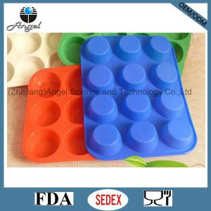 12-Cavity Round Silicone Cookie Tool Cake Mold Chocolate Mold Sc47 pictures & photos