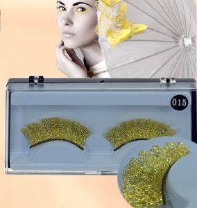 Fashion Creative Makeup Golden Sparkle Lace False Eyelashes Sparkle pictures & photos