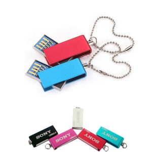 Metal Mini Swivel Custom Logo Gift USB Flash Drive pictures & photos