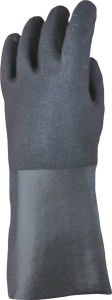 Sandy Finish Guantlet Cuff PVC Work Glove-5125 pictures & photos