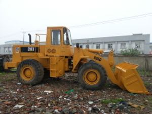 40hq-Container-Shipping Front-Discharging USA-Export Original 3~5cbm/20ton Yellow-Coat Caterpillar 966D Wheel Loader pictures & photos