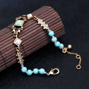 European and American Fashion Retro Personal Inlaid Rhinestone Alloy Bracelet pictures & photos