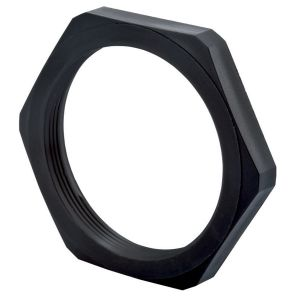 Custom Made Black Anodized Aluminum Hex Threaded Ring Lock Nut pictures & photos