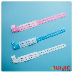 Barcode Hospital Logo Customized Identify Band Medical ID Bracelet pictures & photos