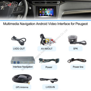 Car Android Navigation Interface Box for Peugeot Upgrade Touch Navigation, WiFi, HD 1080P, Google Map, Play Store, Voice, pictures & photos