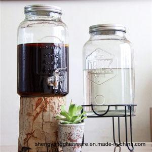Free Sample 6 Liter Mason Jar Glass Juice Jar with Tap Glass Dispenser pictures & photos