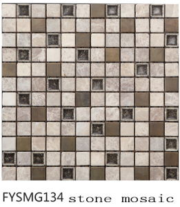 House Building Material Stone Mosaic (FYSMG134)