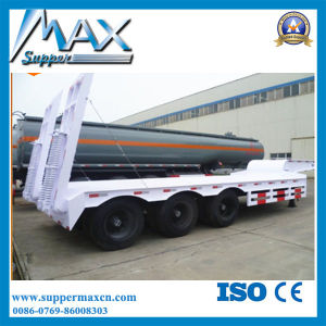 4 Axle 45-65t Flat Low Bed Semi Trailer pictures & photos