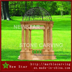 Desert Gold Marble Gazebo in Garden pictures & photos