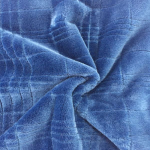 100% Polyester Grid 8 Jacquard Flannel Fleece pictures & photos